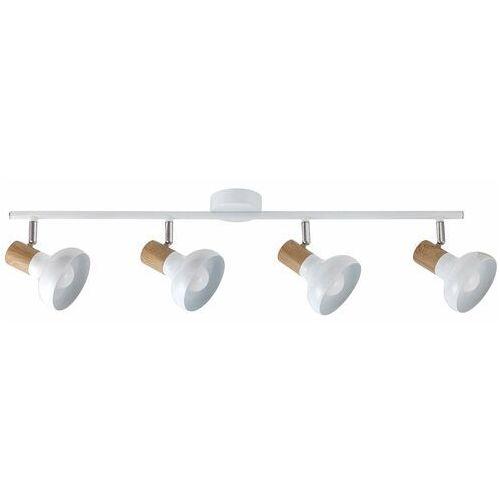 Listwa Rabalux Holly 5947 lampa sufitowa 4x40W E14 biały/brązowy