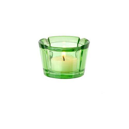 - szklany świecznik, zielony marki Rosendahl