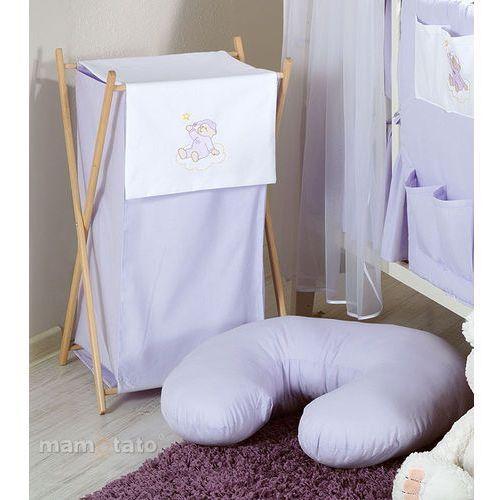 kosz na bieliznę miś na chmurce w fiolecie marki Mamo-tato