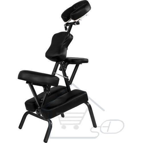 Fotel do masażu - Krzesło do tatuażu MOVIT + torba, kolor czarny, kolor czarny
