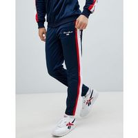 Penn sport skinny joggers in navy with side stripe - navy