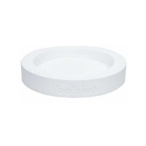 Świecznik ceramiczny 18.2 x 18.2 cm biały (8717847083227)