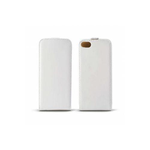KSIX Etui FLIP UP skórzane dedykowane do Apple iPhone SE/5S/5 - białe Odbiór osobisty w ponad 40 miastach lub kurier 24h, towar z kategorii: Futerały i pokrowce do telefonów