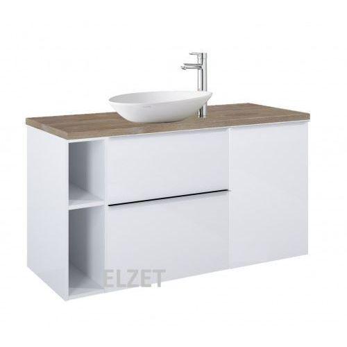 ELITA szafka Look 2S white pod umywalkę nablatową + kontener + moduł otwarty + blat 120 dąb classic 167077+166995+167101+166902, 167077.166995.167101.166902