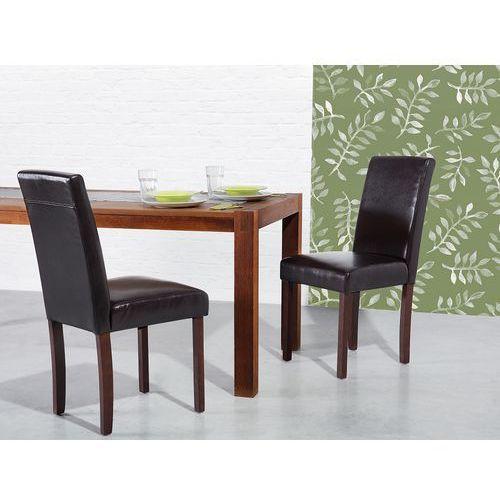 Krzesło brązowe - do jadalni - kuchenne - tapicerowane - BROADWAY (7081459414412)