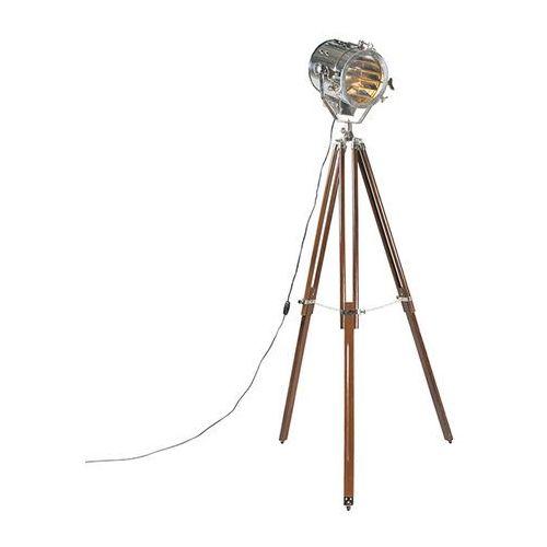 Lampa podlogowa Tripod Beam brazowa z chromem