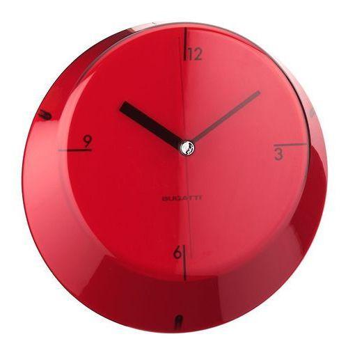 - glamour zegar ścienny, czerwony marki Bugatti