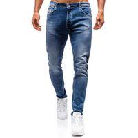 Spodnie jeansowe męskie granatowe Denley 7161, jeansy