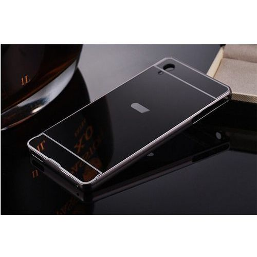 Mirror Bumper Metal Case Czarny   Etui dla Sony Xperia Z5 Compact - Czarny