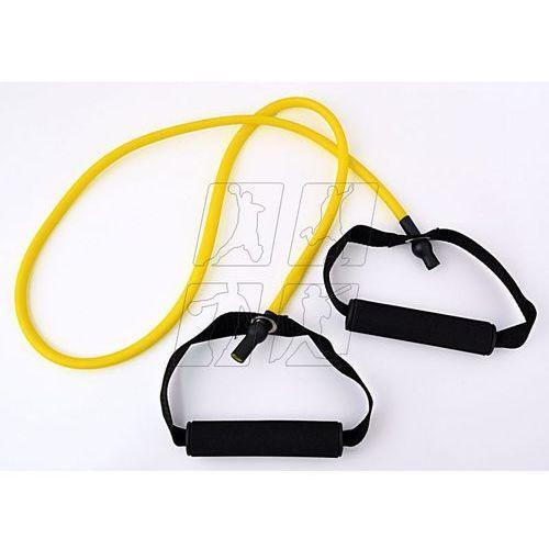 Allright Guma do ćwiczeń  z uchwytami 120x0,9x0,6 cm żółta