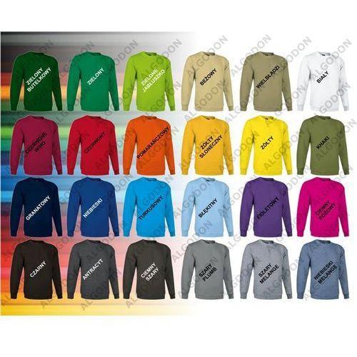 Bluza gładka, zakładana przez głowę, dresowa dublin m zielony-butelkowy marki Valento