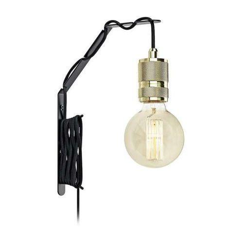 Kinkiet lampa ścienna etui 106619 + 106865 industrialna oprawa kabel przewód mosiądz marki Markslojd