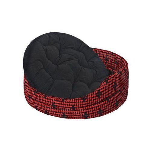 Chaba legowisko standard z poduszką czerwona szachownica [rozmiar 7] 76 x 68 x 18cm