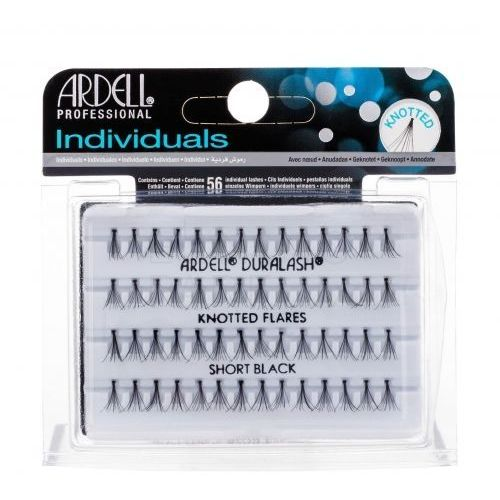 Ardell individuals duralash knotted flares sztuczne rzęsy 56 szt dla kobiet short black