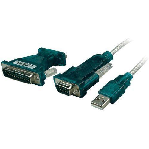 Logilink Kabel usb 2.0  ua0042a, [1x złącze męskie usb 2.0 a - 1x złącze męskie d-sub 9-pin, złącze męskie d-sub 25-pin], 1.20 m