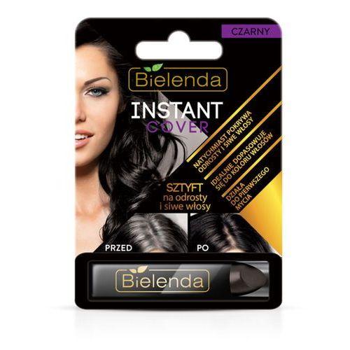 Bielenda Sztyft na odrosty i siwe włosy czarny instant cover 4.3g
