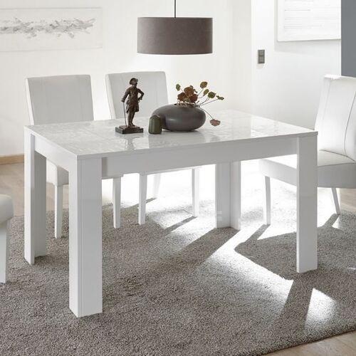 Vero stół rozkładany 137-185 cm biały wysoki połysk