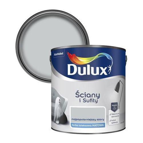 Farba Dulux Ściany i Sufity najpopularniejszy szary 2,5 l, 5320166