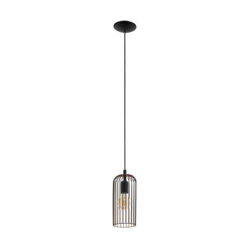 Lampa wisząca roccamena 49644 zwis 1x60w e27 czarny/miedziany marki Eglo