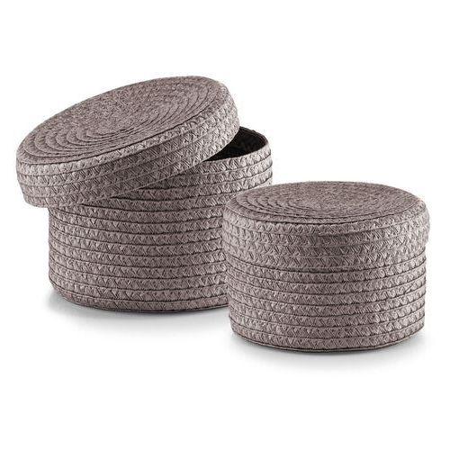 Zeller 14120 zestaw kosz z pokrywą, 2-częściowy, okrągły, PP, Ø 16 x 10 cm, Ø 17 x 12 cm (4003368141220)