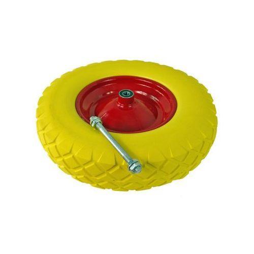 Koło do taczki pełne piankowe, bezdętkowe z ośką żółte 4.00-8 10310
