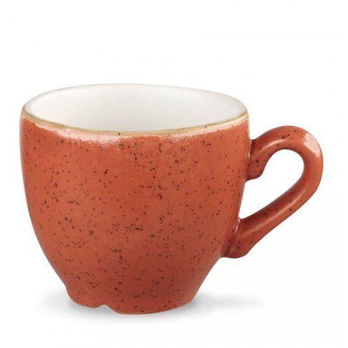 Filiżanka espresso 100 ml, pomarańczowa   CHURCHILL, Stonecast Spiced Orange