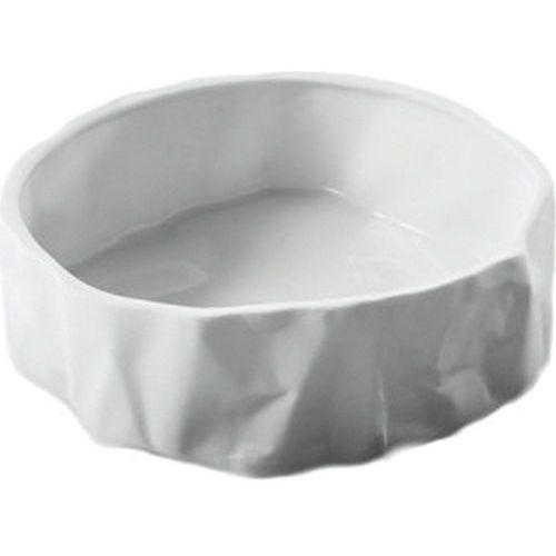 Miska pogięta Ćmielów biała