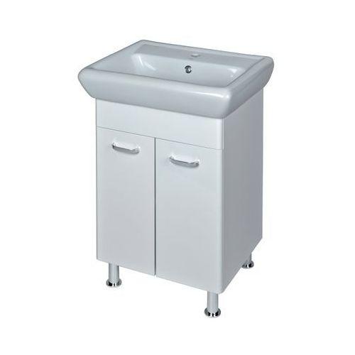 Szafka z umywalką Cersanit Alpina Iryda 60 cm biała (5907720671440)