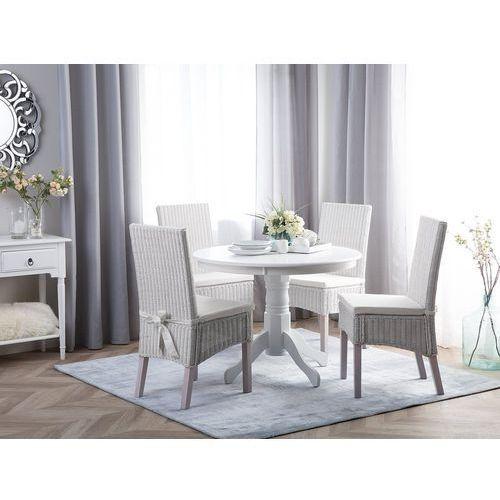 Zestaw 2 krzeseł rattanowych białe andes marki Beliani