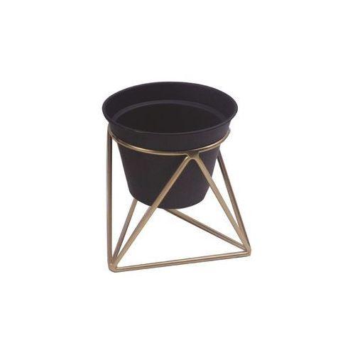 Osłonka na stojaku metalowym śr. 15 cm czarno-złota MODERN (5903039403918)