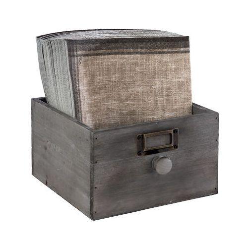 Skrzynka drewniana vintage 18,5x18,5x11 cm bez wyposażenia marki Aps