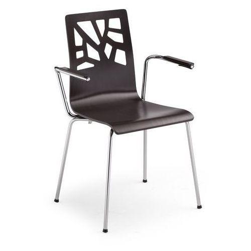Nowy styl Krzesło verbena arm alu/black