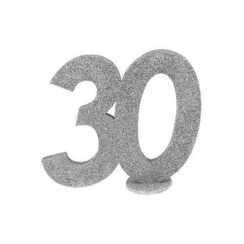 Dekoracja stołu trzydziestka srerbna 30-stka - 1 szt. marki San