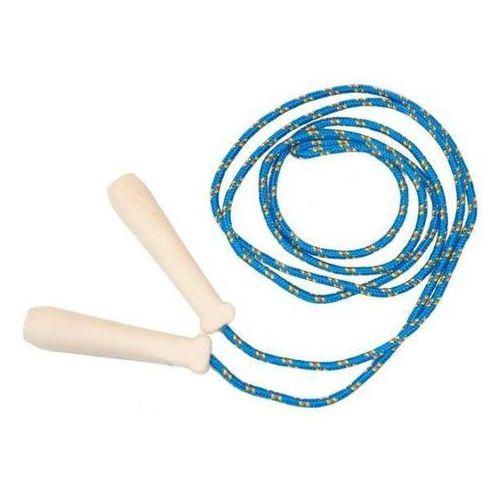 - skakanka sznurkowa z drewnianymi rączkami - 2 m - niebieska marki Akson