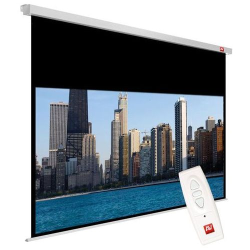 Ekran elektryczny 240x200cm video electric 240 - matt white (ramki 2,5cm+ top 18,8cm, obraz 235x176,2 cm) marki Avtek