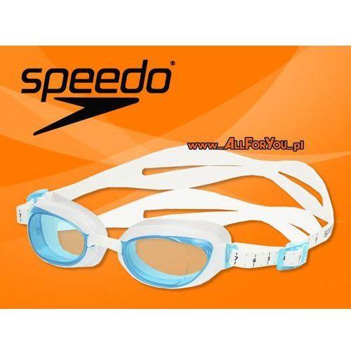 Speedo Okulary aquapure female white-blue