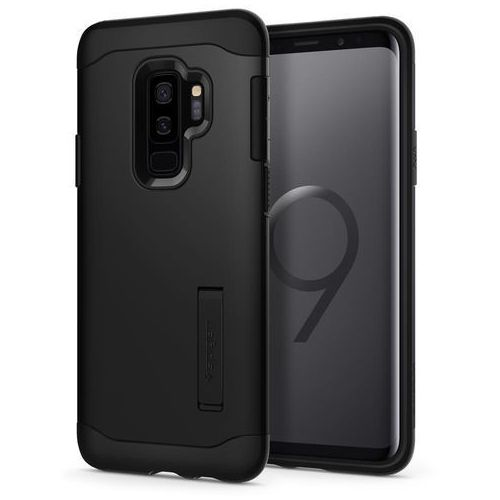 SPIGEN Etui Spigen Slim Armor do Galaxy S9+ czarne, kolor czarny