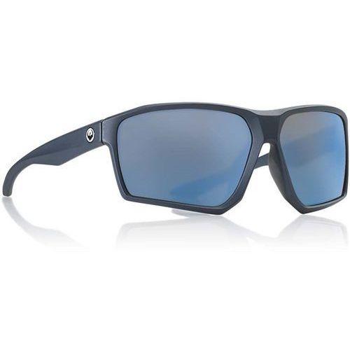 okulary słoneczne DRAGON - Tenzig Ion Matte Slate/Blue Ion (035) rozmiar: OS, kolor niebieski