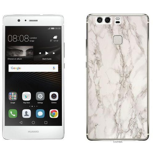 Huawei P9 - etui na telefon - Kolekcja marmur - marble biały - H17 - Marble biały