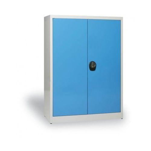 Szafa metalowa, 1150x1200x400 mm, 2 półki, szary/niebieski