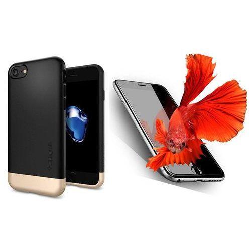 Sgp - spigen / perfect glass Zestaw | spigen sgp style armor black | obudowa + szkło ochronne perfect glass dla modelu apple iphone 7