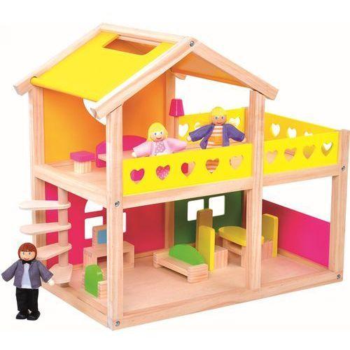 drewniany domek dla lalek z akcesoriami marki Bino