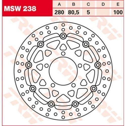 TRW Tarcza hamulcowa TRW MSW238 KAWASAKI ZX-6 R 63