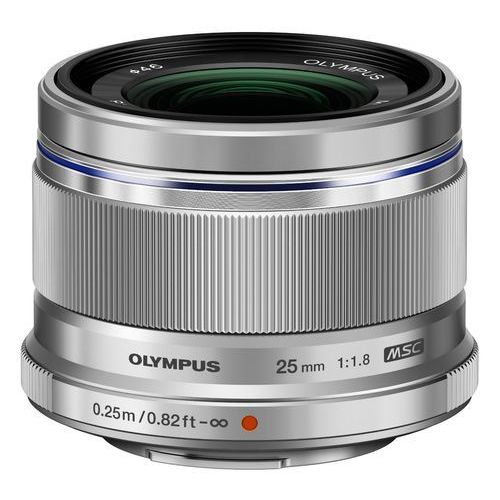 Olympus Obiektyw m.zuiko digital 25mm f/1.8 srebrny (4545350045876)