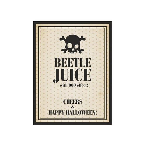 Party deco Etykieta na butelkę beetle juice na halloween - 10 szt. p (5901157457813)