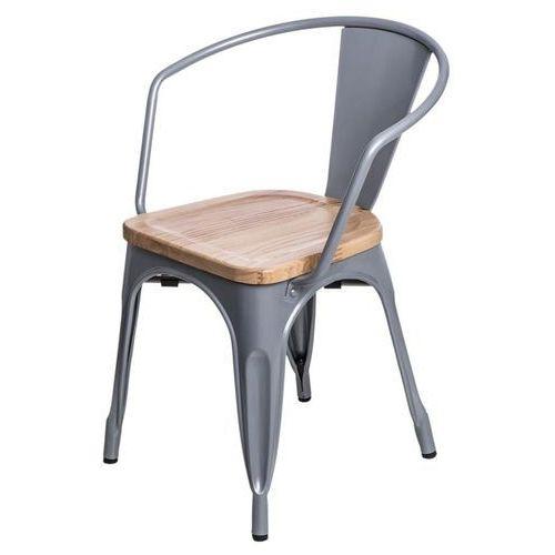 Krzesło Paris Arms Wood sosna naturalna - srebrny (5902385706209)
