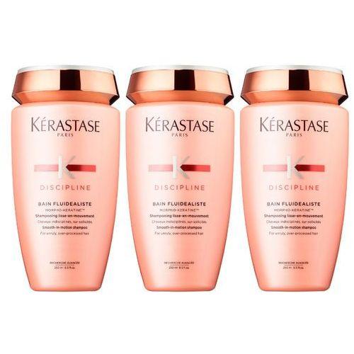 Kérastase Kerastase fluidealiste sulfate free bain | zestaw: bezsiarczanowa kąpiel dyscyplinująca 3x250ml