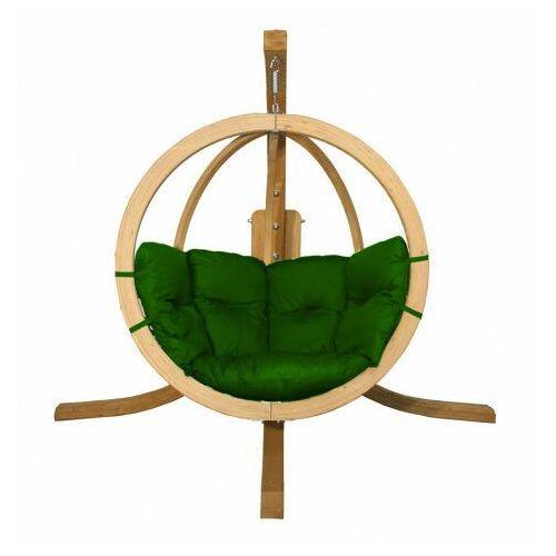 Zielony fotel wiszący jajo - Parys 2X