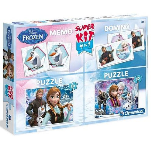 Clementoni Puzzle kraina lodu superkit + memory + domino frozen (2x30 elementów)