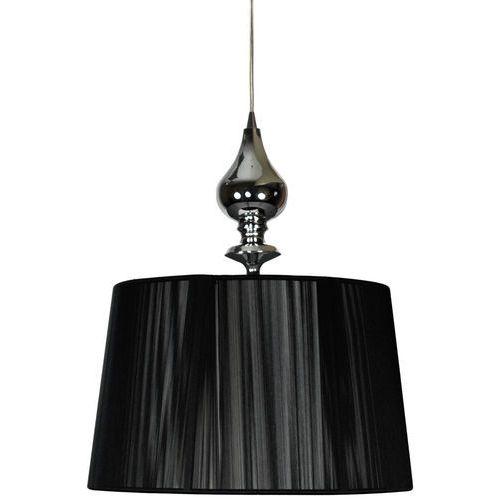 Candellux Lampa wisząca zwis gillenia 1x60w e27 czarna/chrom 31-21437 (5906714721437)